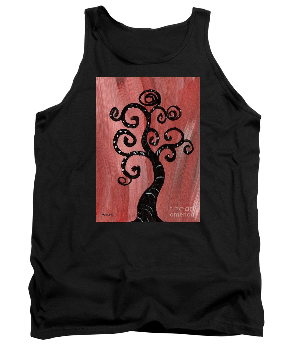 Tree Tank Top featuring the painting Tree I Wr by Mrs Wilkes Art