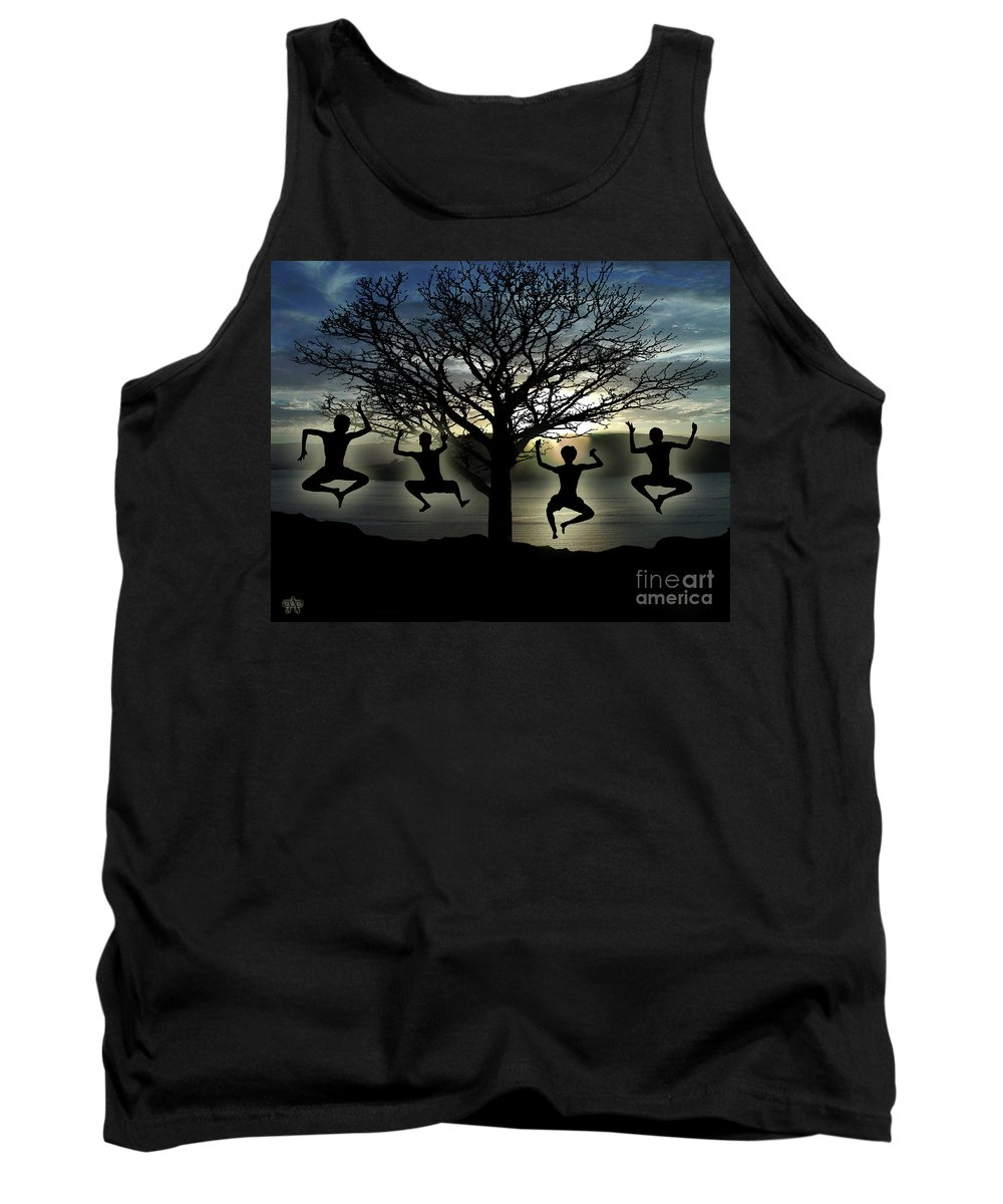 Tree Of Life Tank Top featuring the digital art Tree Of Life by Peter Piatt