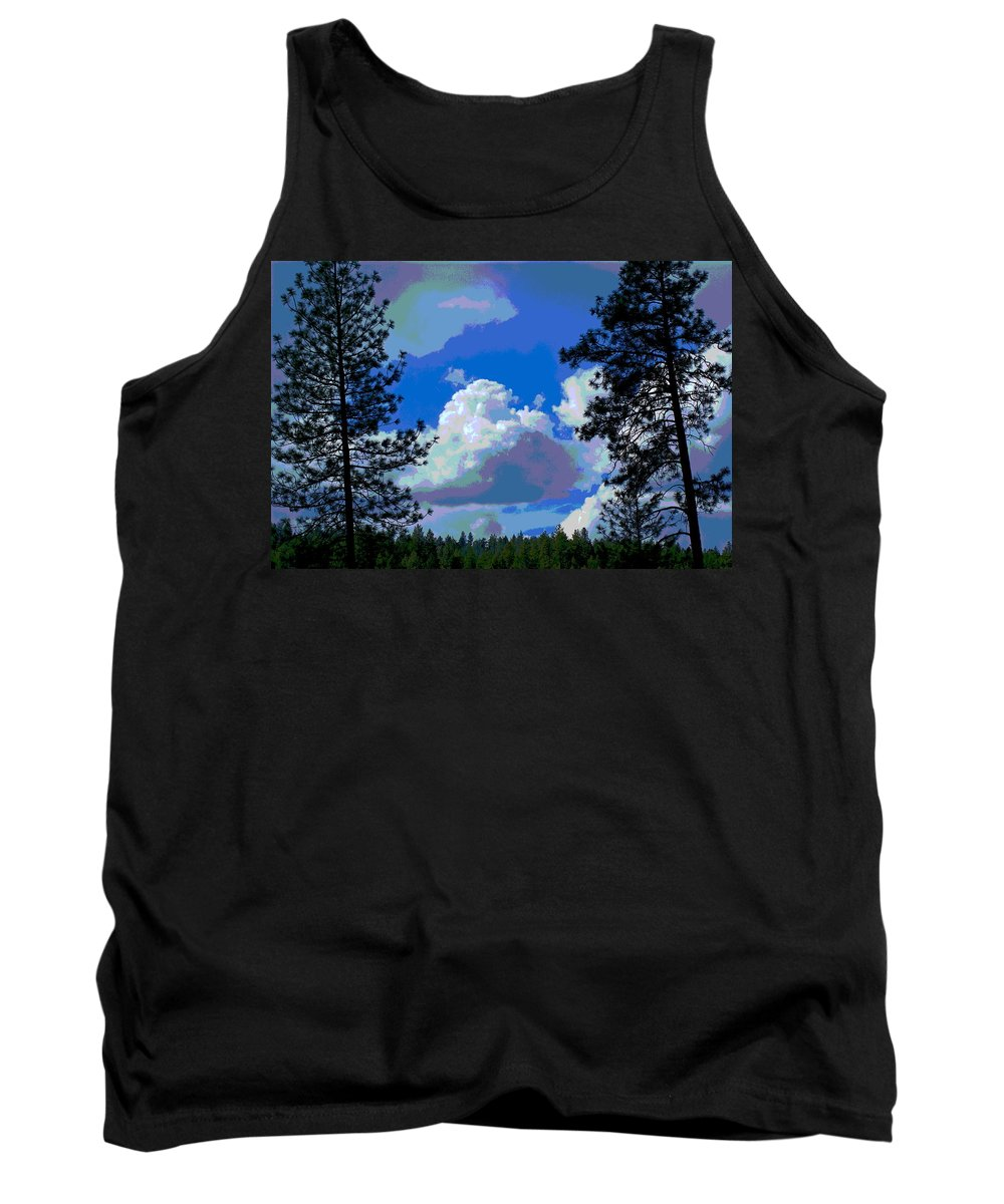Photo Art Tank Top featuring the photograph Trees And A Cloud For Crying Out Loud by Ben Upham III