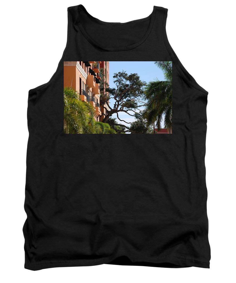 Architecture Tank Top featuring the photograph Trees In Space by Rob Hans