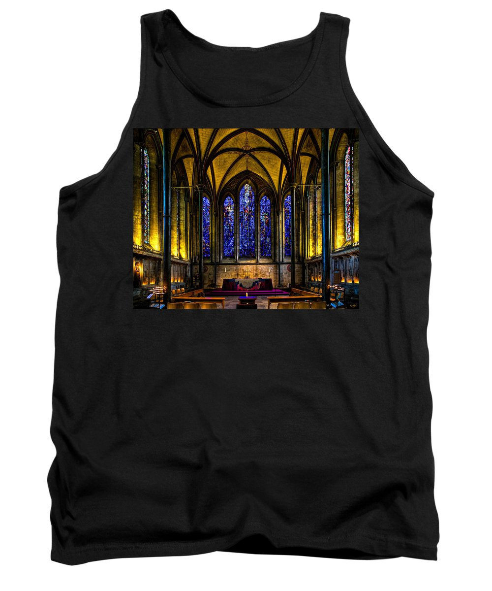 Trinity Tank Top featuring the photograph Trinity Chapel Salisbury Cathedral by Chris Lord