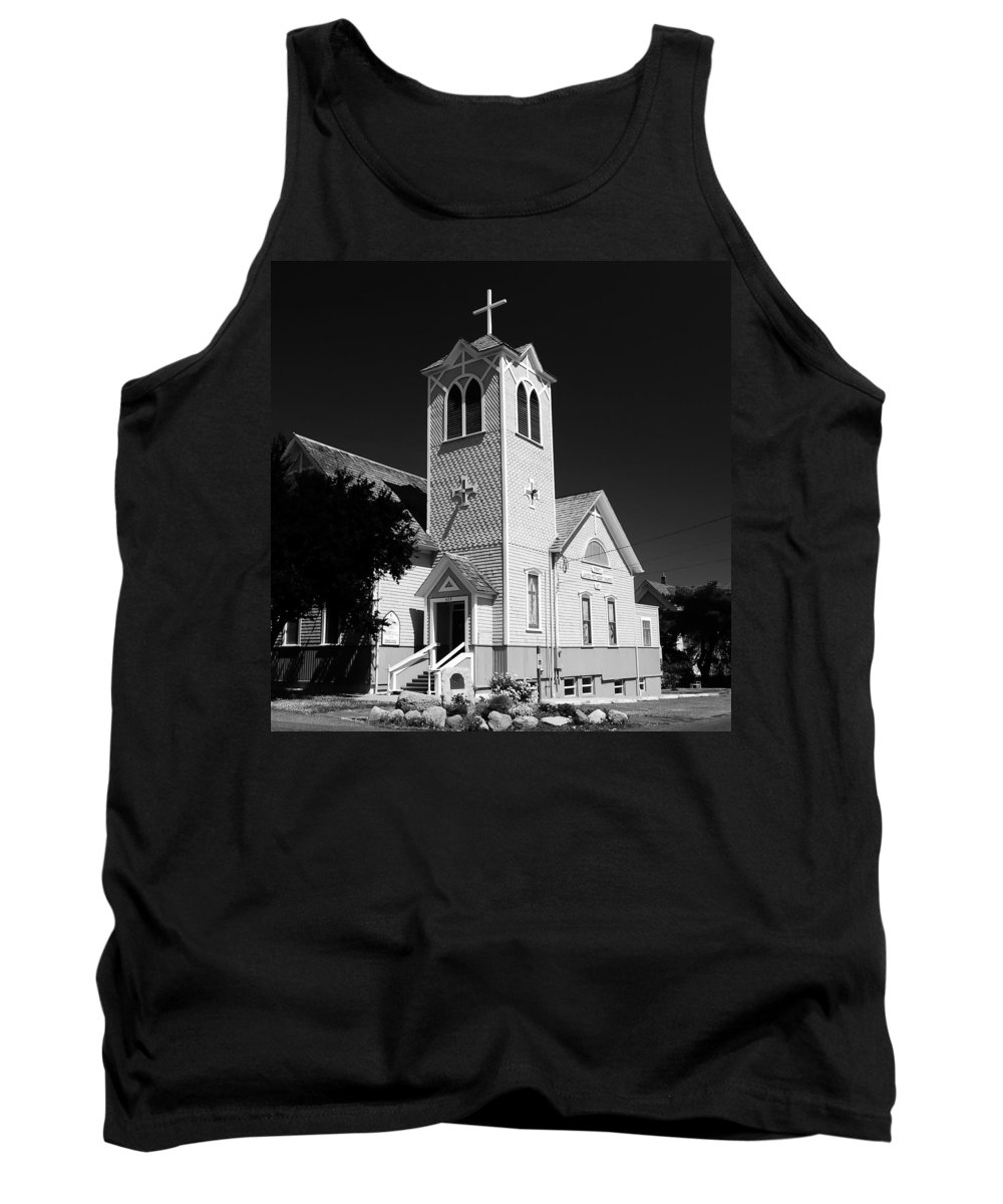 Trinity Church Port Townsend Washington Tank Top featuring the photograph Trinity Church 1871 by David Lee Thompson