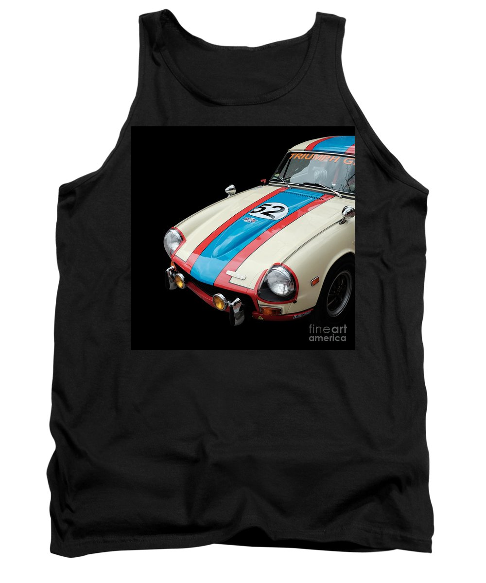 April Tank Top featuring the photograph Triumph Gt6 by Edward Fielding