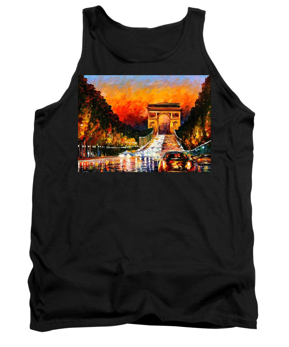 Afremov Tank Top featuring the painting Triumph by Leonid Afremov