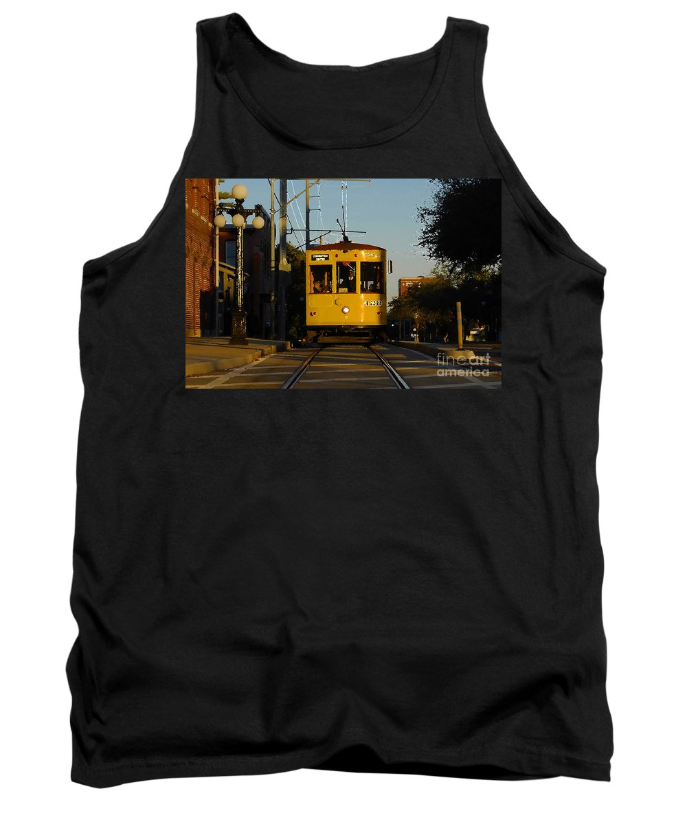 Trolley Tank Top featuring the photograph Trolley Ride by David Lee Thompson