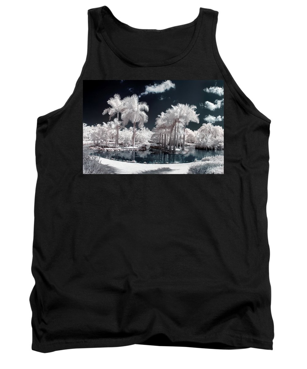 3scape Photos Tank Top featuring the photograph Tropical Paradise Infrared by Adam Romanowicz