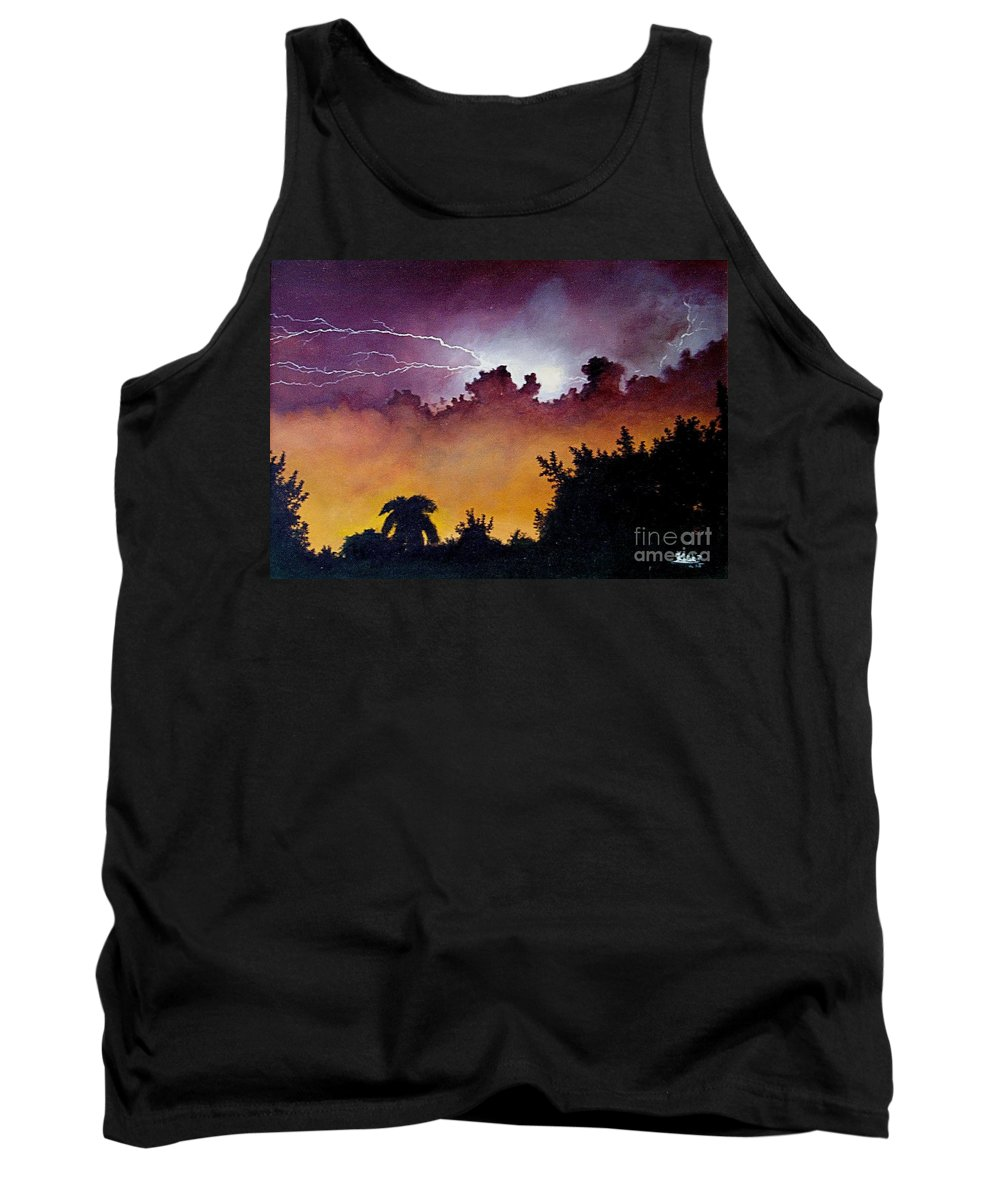 Storm Tank Top featuring the painting Tropical Storm by Peter Kulik