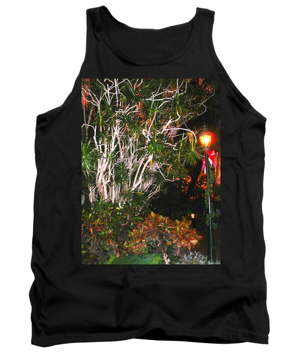 Tropical Tank Top featuring the photograph Tropical Streetlight by Anne Cameron Cutri
