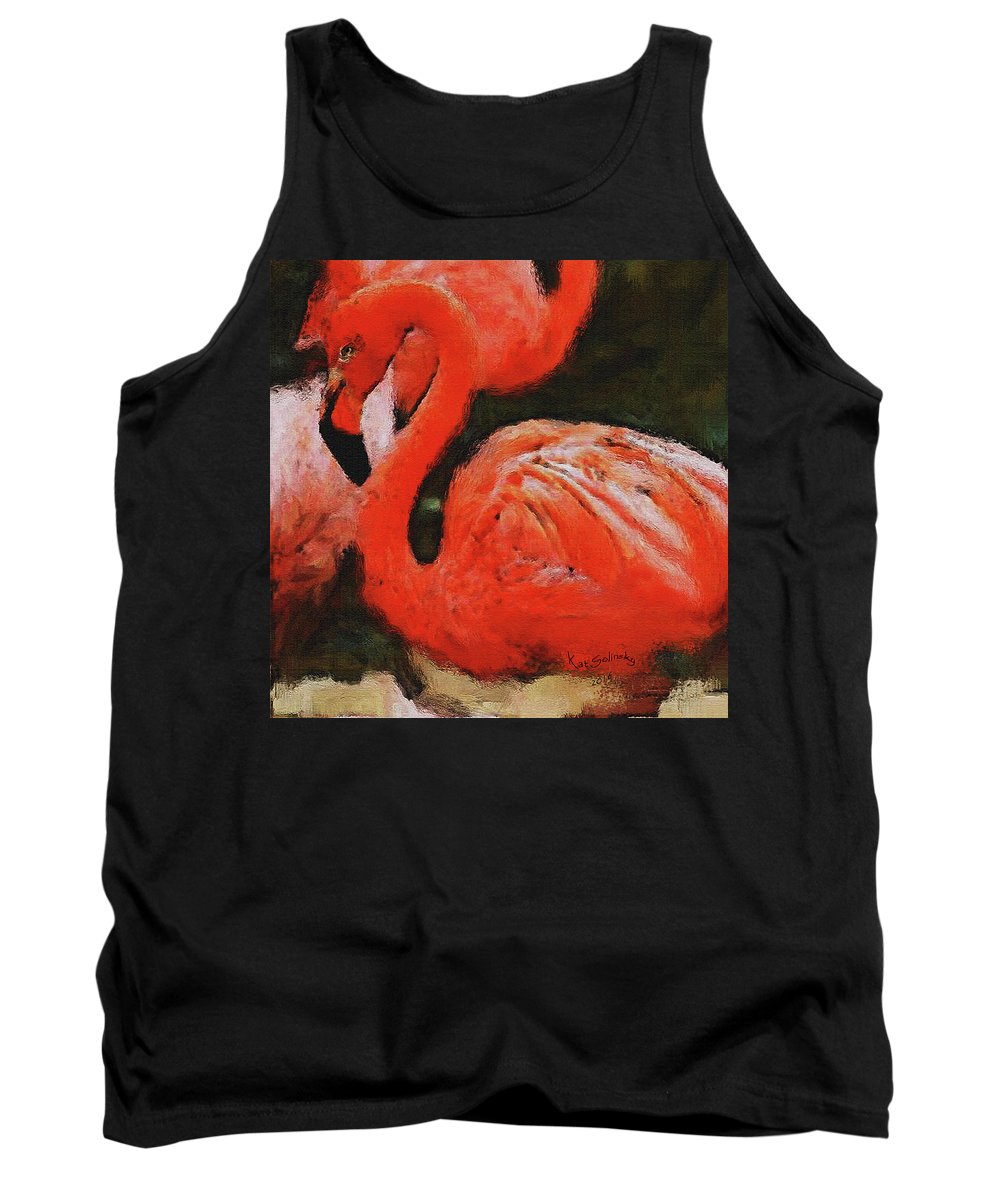 Kat Solinsky Paintings Tank Top featuring the painting Tropicana by Kat Solinsky