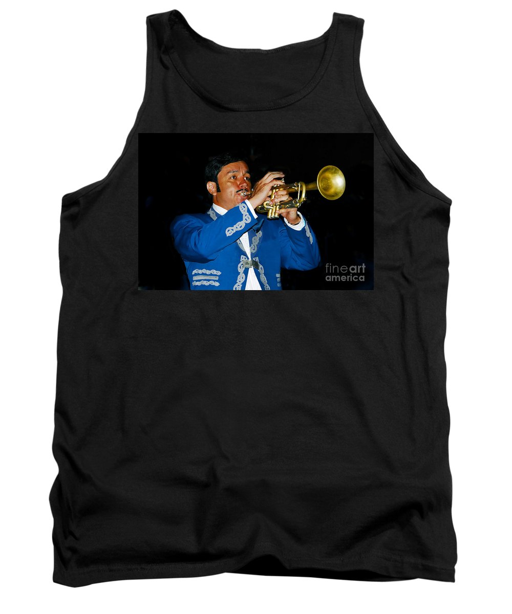 Trumpet5 Tank Top featuring the photograph Trumpet Player by David Lee Thompson