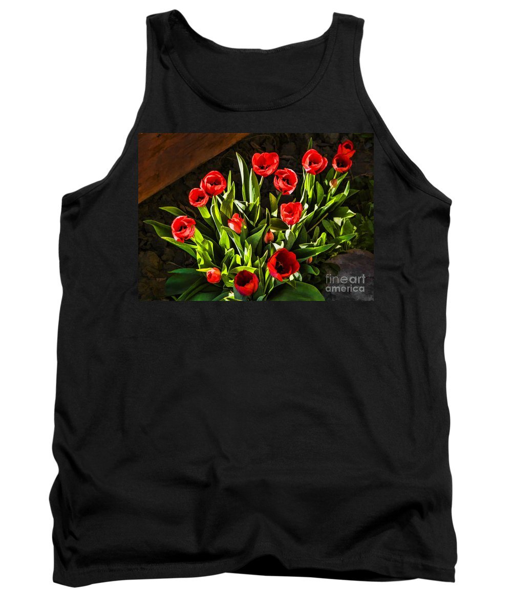 Tulip Beauties Tank Top featuring the photograph Tulip Beauties by Priscilla Burgers