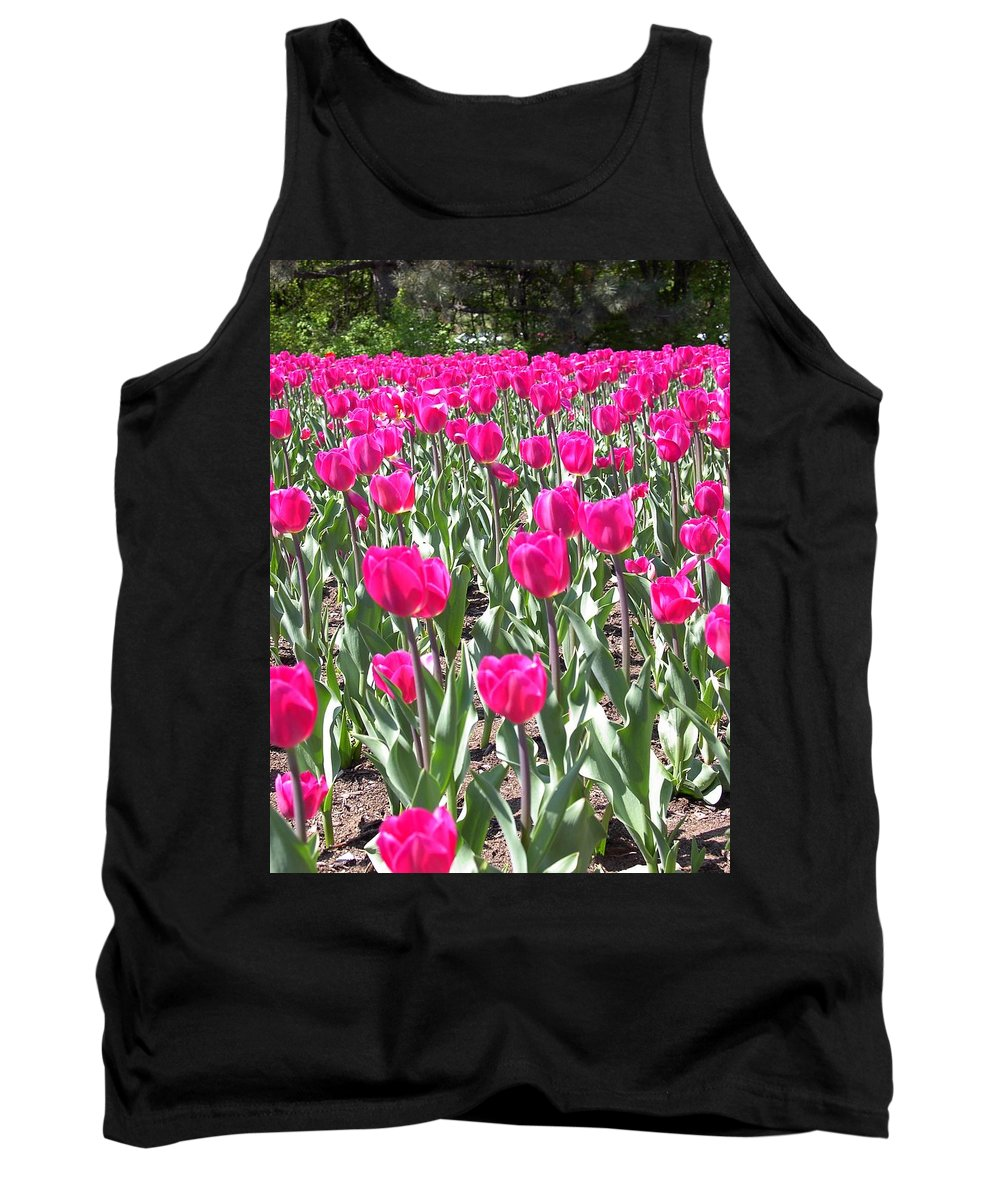 Charity Tank Top featuring the photograph Tulips by Mary-Lee Sanders