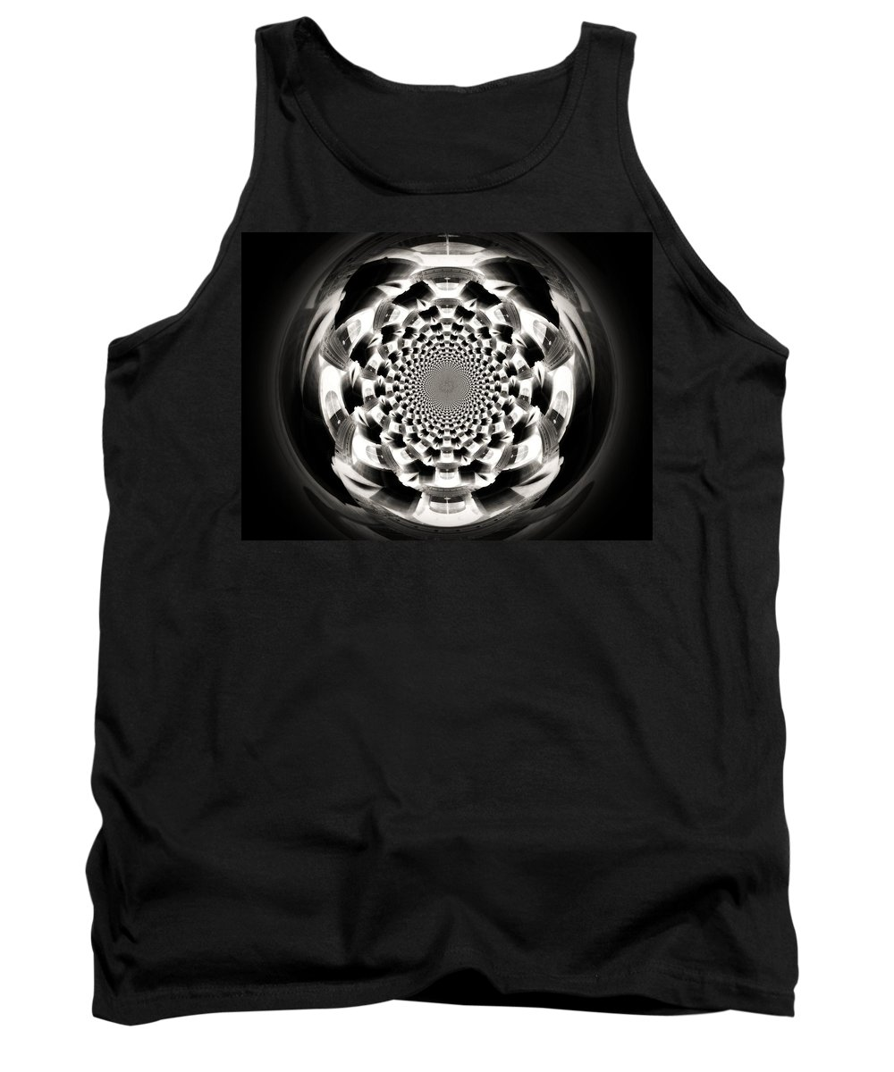 Orb Tank Top featuring the digital art Tunnel Illusion by Charleen Treasures