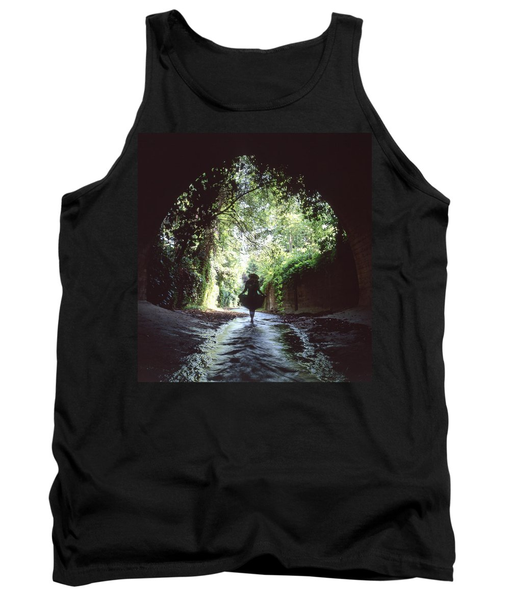 Peaceful Tank Top featuring the photograph Tunnel Walk by Steve Williams