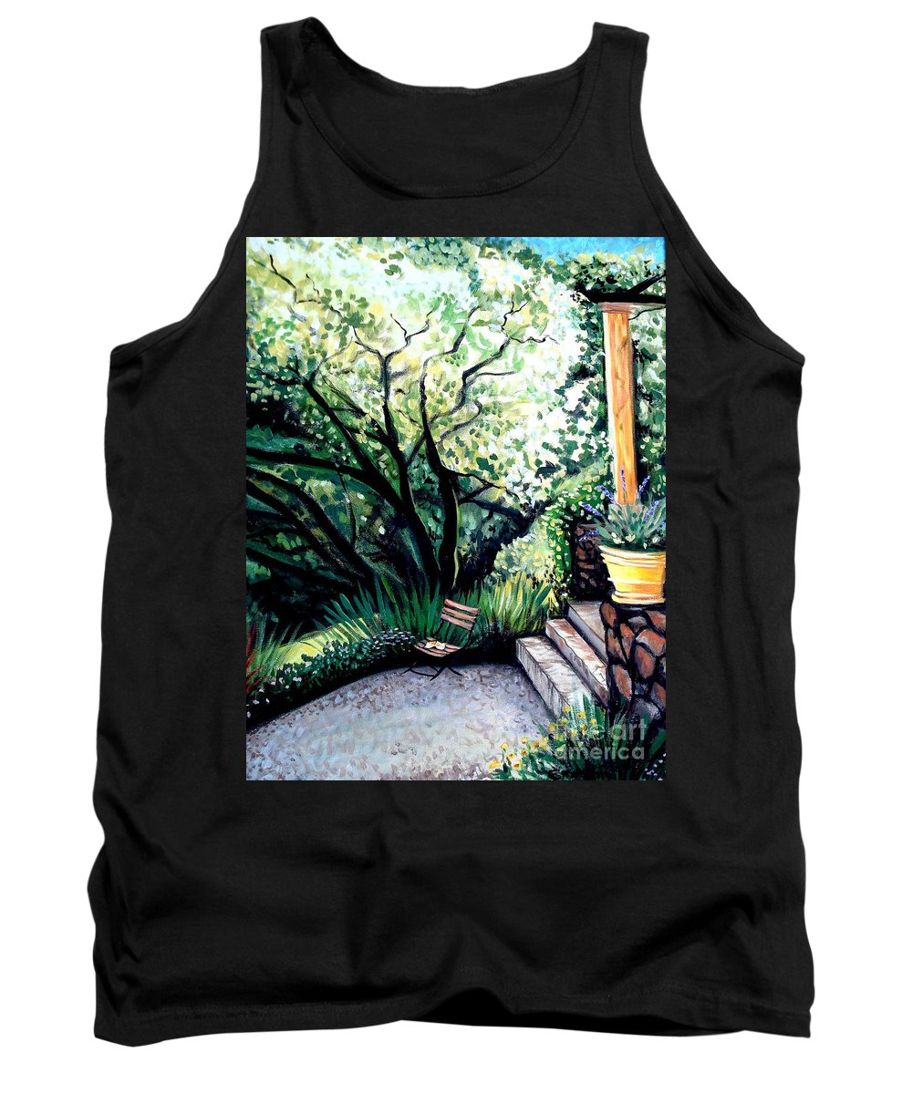 Tuscany Tank Top featuring the painting Tuscan Gold by Elizabeth Robinette Tyndall