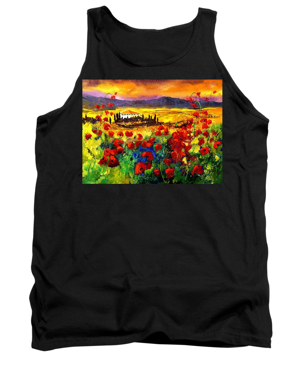 Landscape Tank Top featuring the painting Tuscany 68 by Pol Ledent