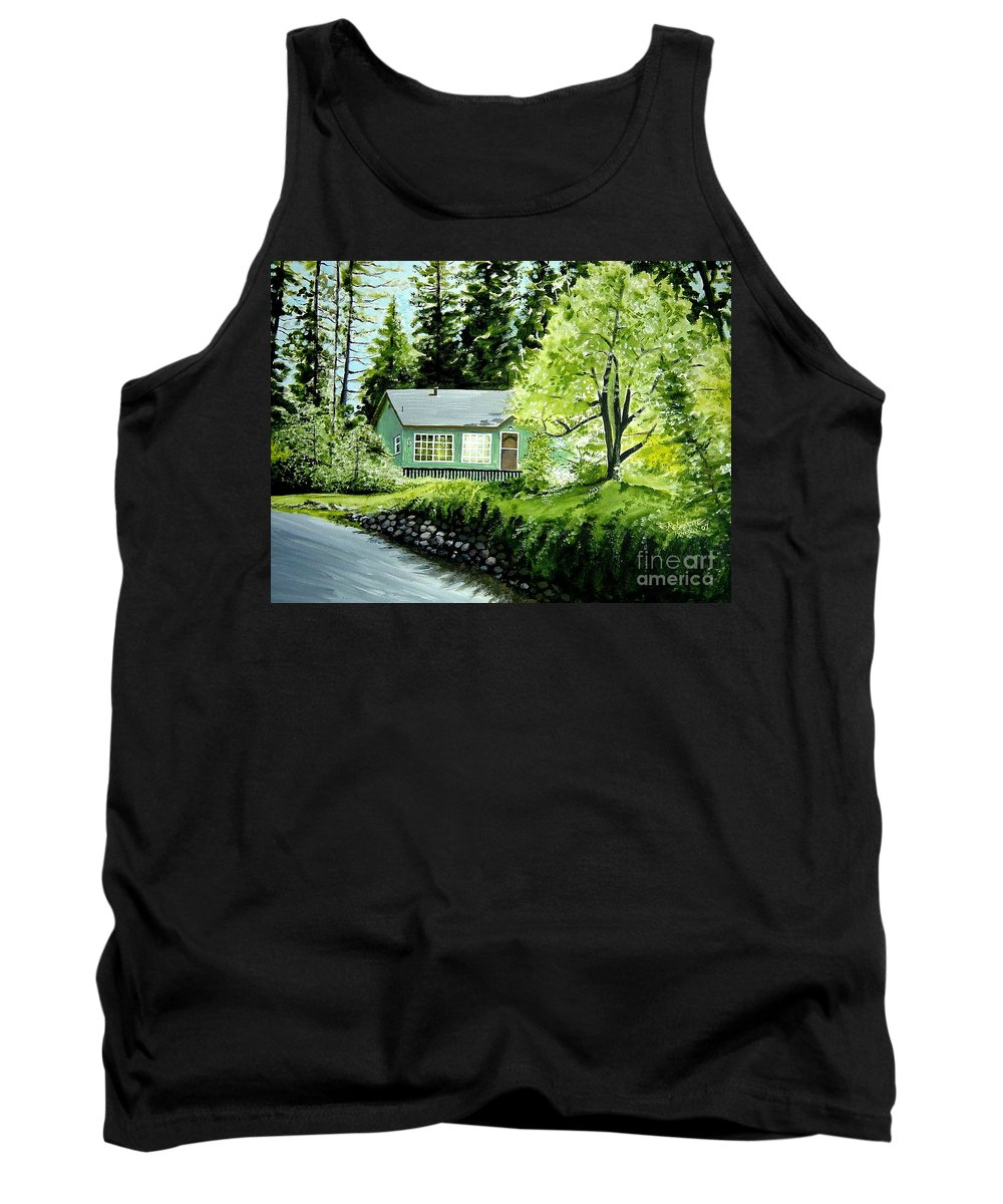 Landscape Tank Top featuring the painting Twaine Harte by Elizabeth Robinette Tyndall