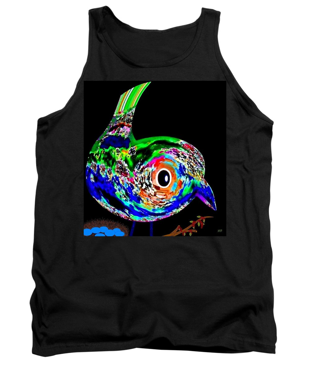 Abstract Tank Top featuring the digital art Tweeter by Will Borden