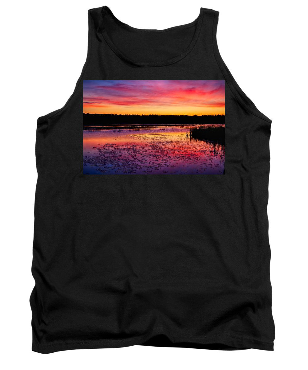 Twilight Tank Top featuring the photograph Twilight Afterglow #2 by Irwin Barrett