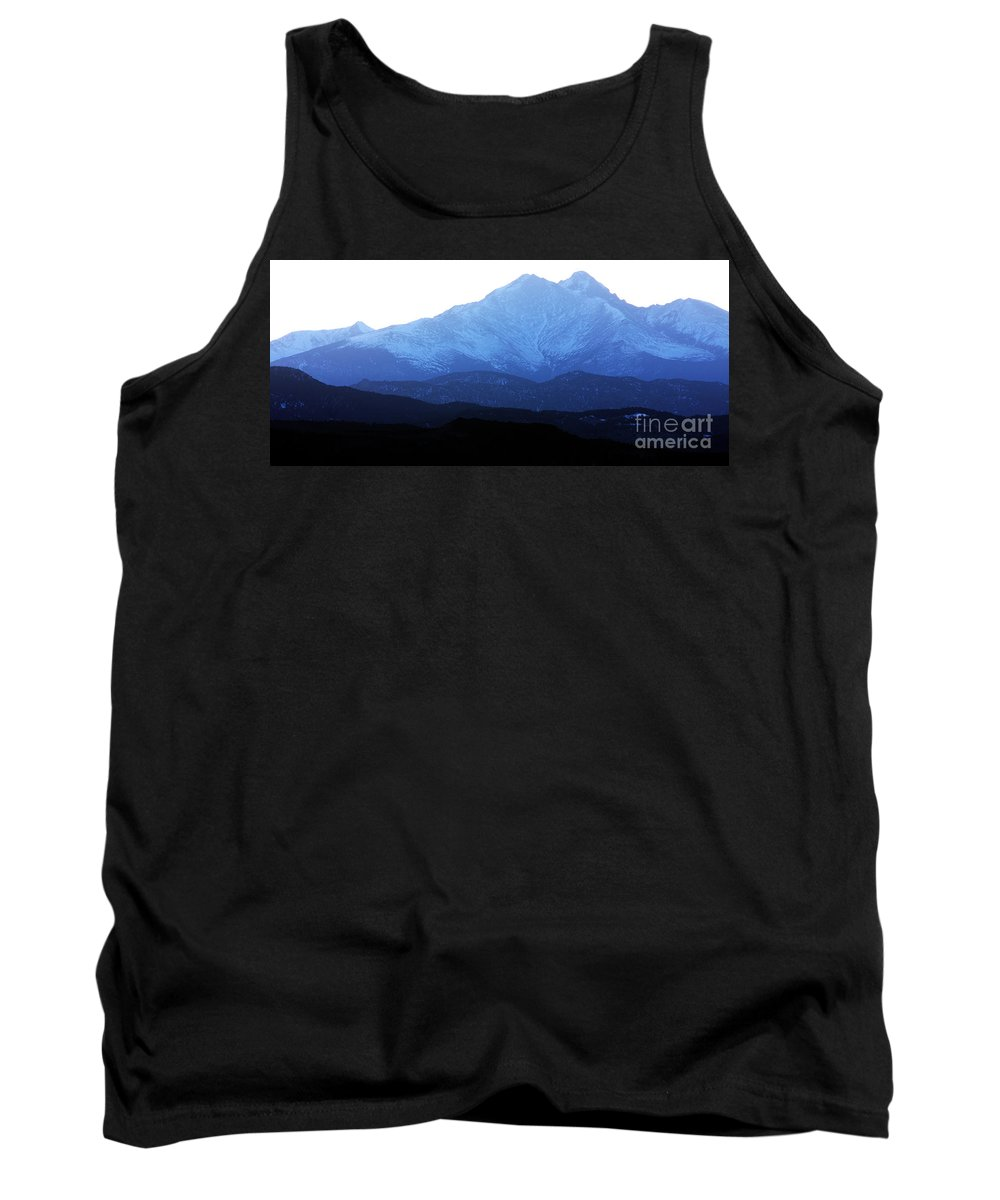 Twin Peaks Tank Top featuring the photograph Twin Peaks Blues by James BO Insogna