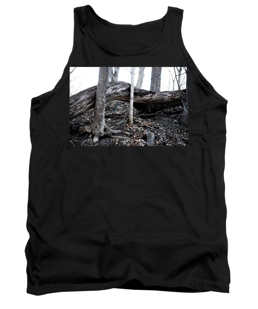Horizontal Tank Top featuring the photograph Twisted Tree by Carol Deltoro