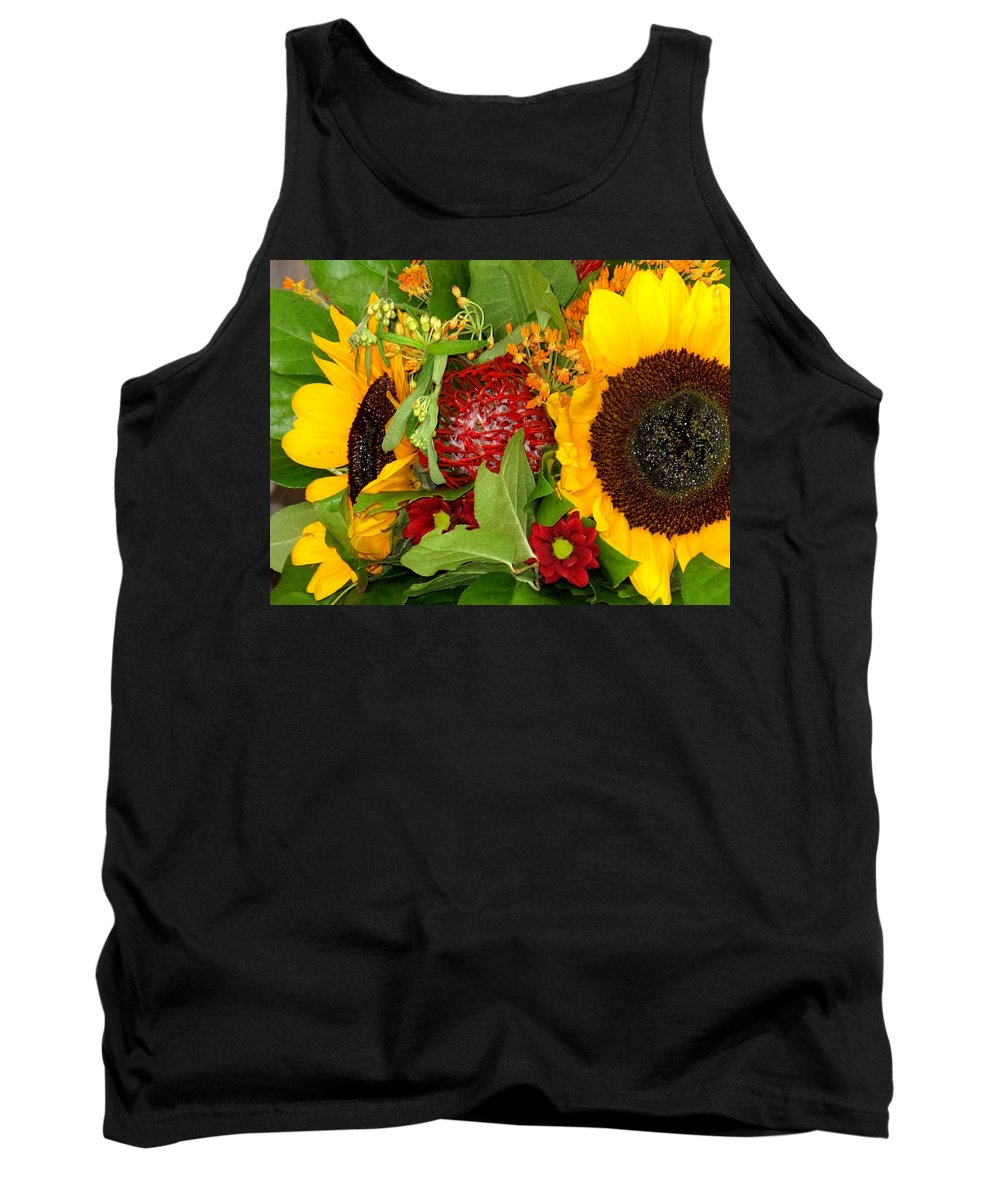 Sunflower Tank Top featuring the photograph Two Suns by Ian MacDonald
