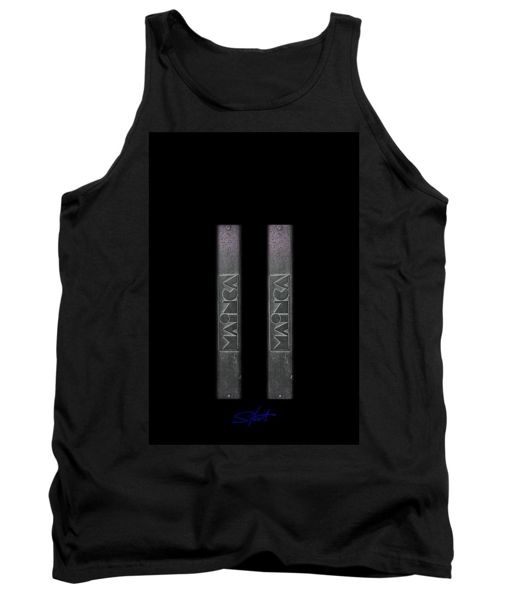 World Trade Center Tank Top featuring the digital art Two Towers by Charles Stuart