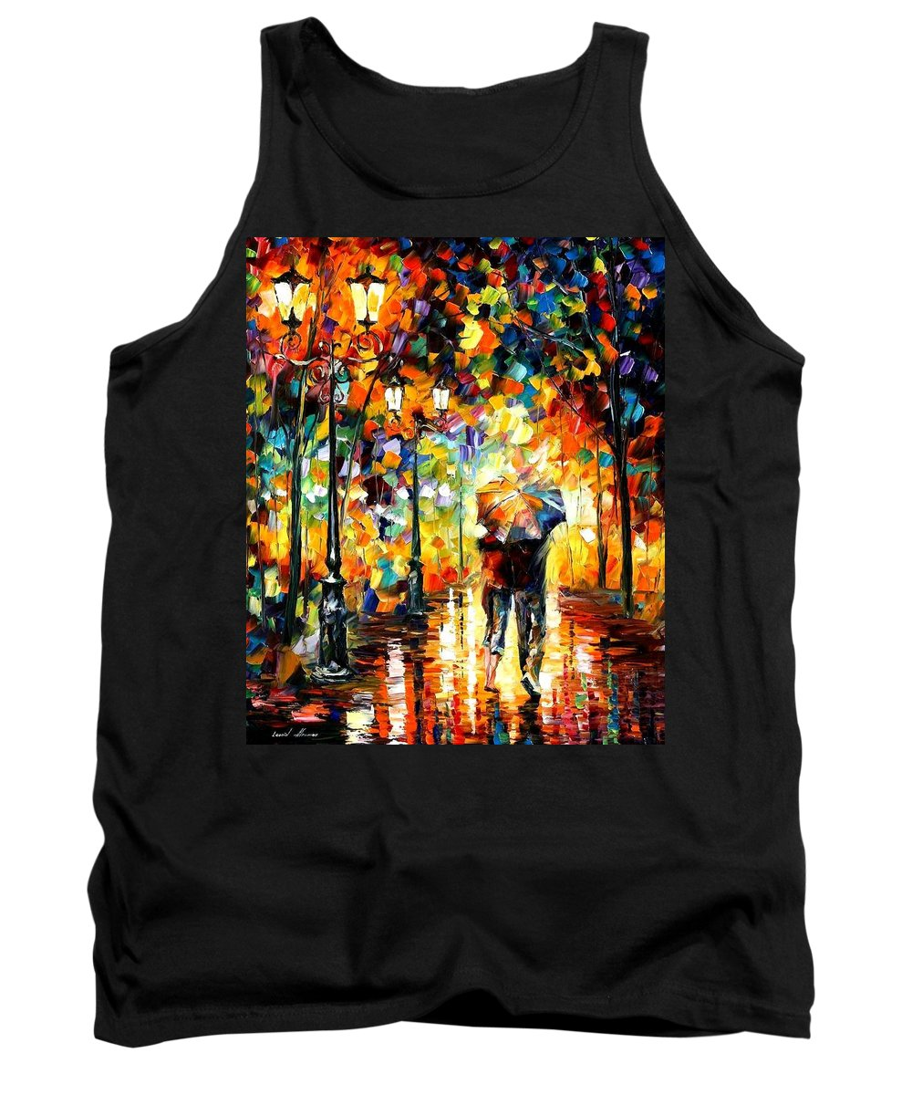 Afremov Tank Top featuring the painting Under One Umbrella by Leonid Afremov