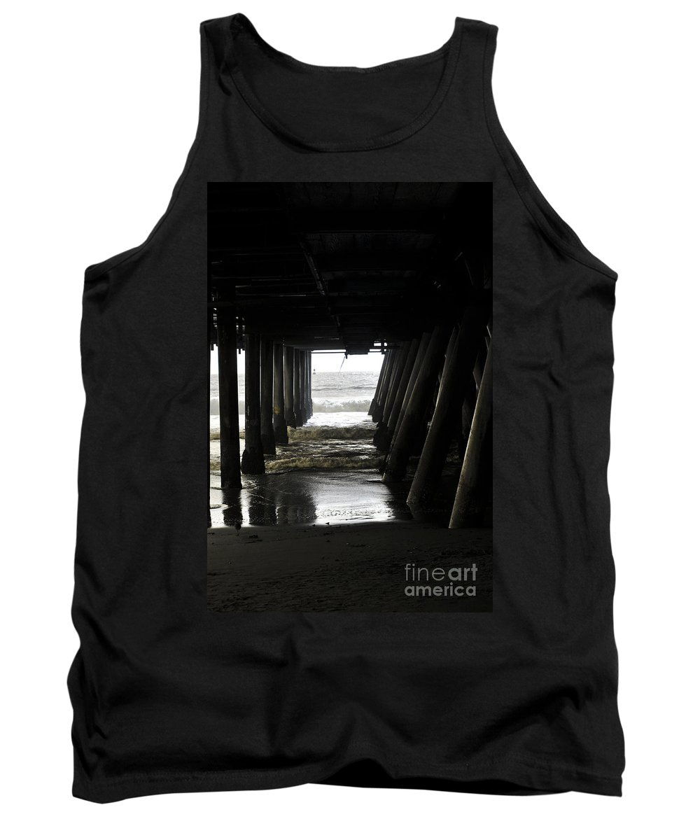 Clay Tank Top featuring the photograph Under Santa Monica Pier by Clayton Bruster