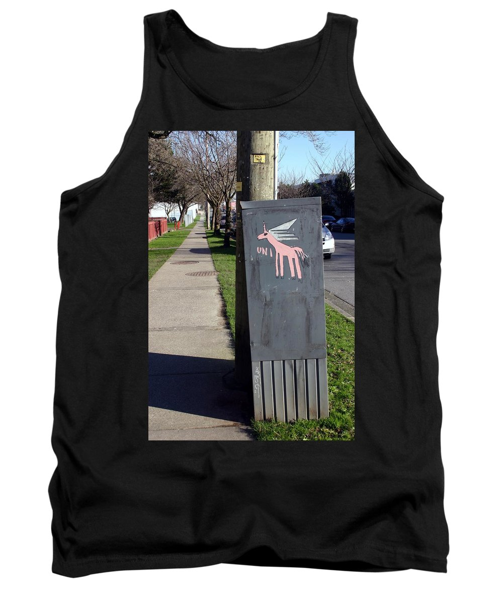 Mail Box Tank Top featuring the photograph Unicorn Mail Delivery by Minaz Jantz