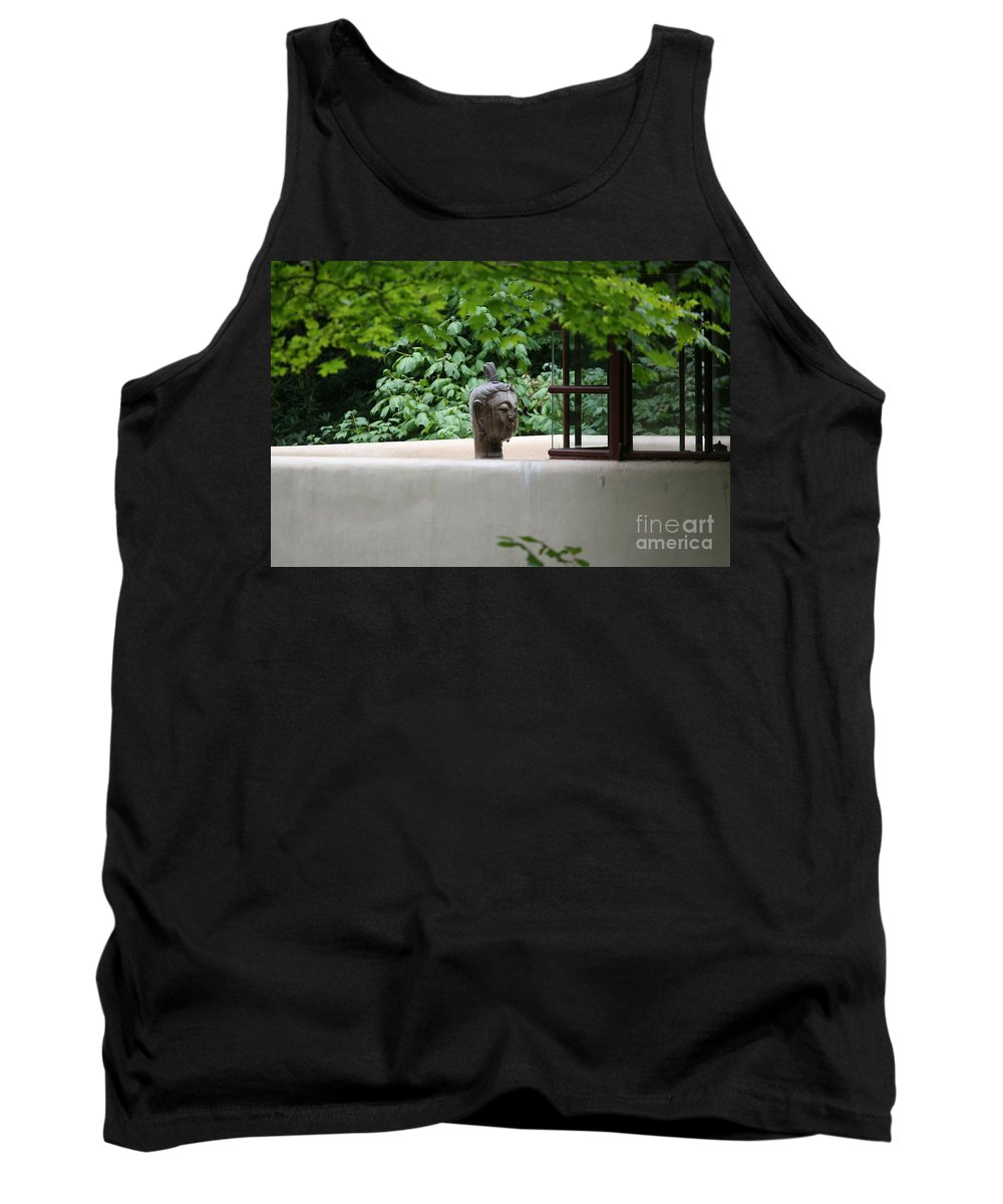Falling Water Tank Top featuring the photograph Unique View Fallingwater by Chuck Kuhn