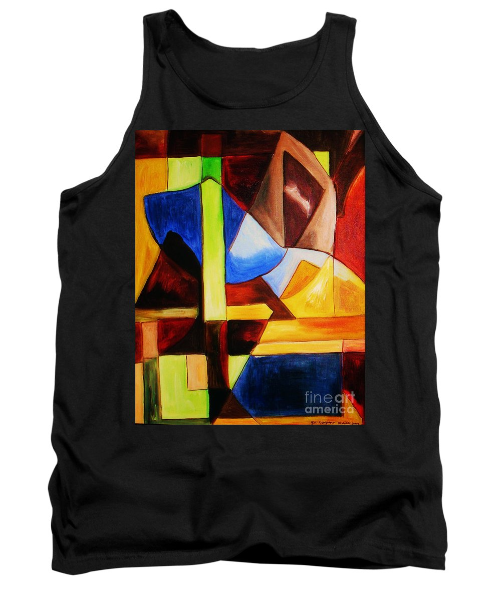 Acrylic Painting Tank Top featuring the painting Unity by Yael VanGruber