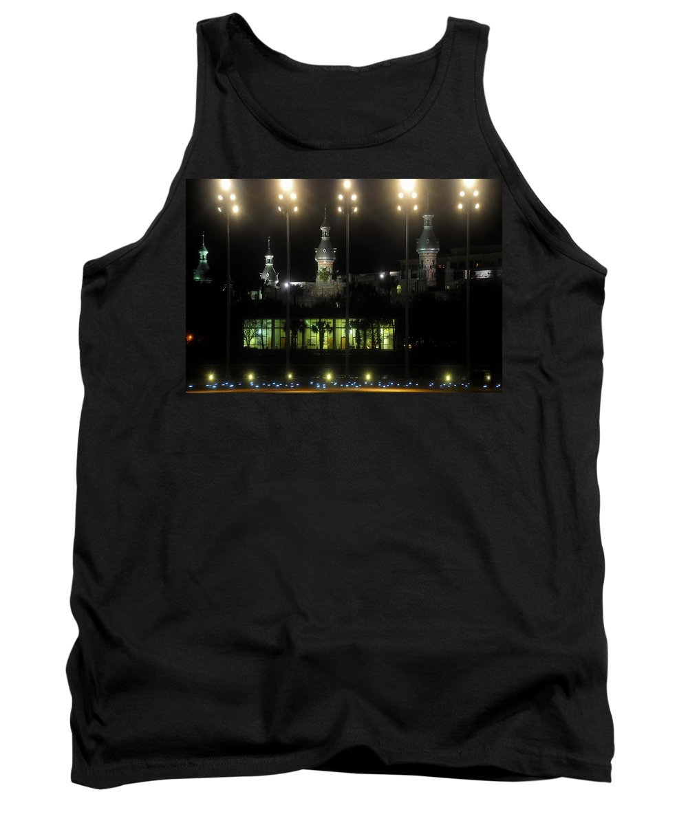 University Of Tampa Tank Top featuring the photograph University Of Tampa Lights by David Lee Thompson