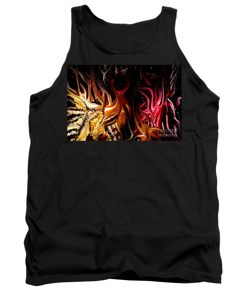 Abstract Tank Top featuring the digital art Until The End by David Lane
