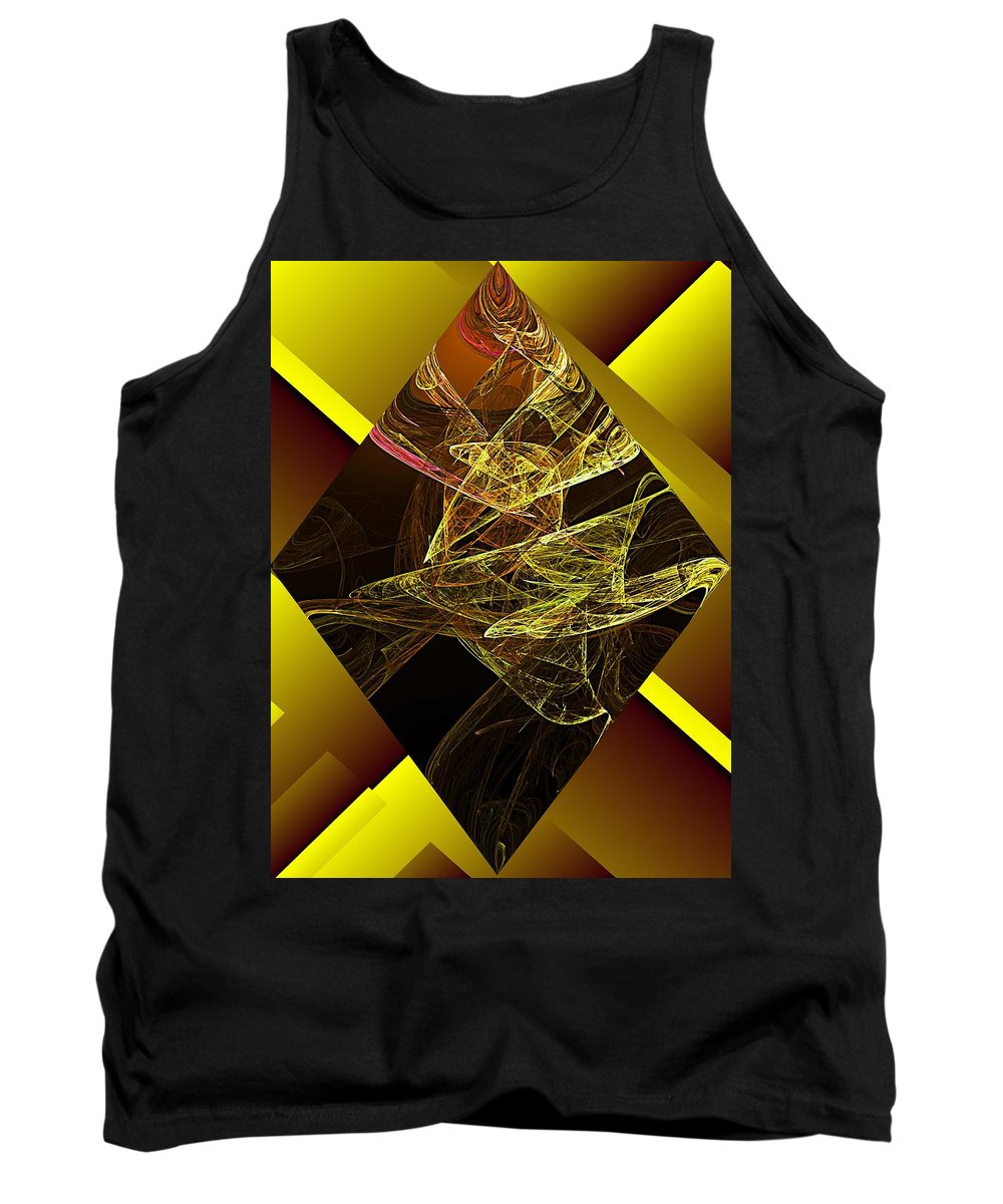 Abstract Digital Painting Tank Top featuring the digital art Untitled 11-06-09 by David Lane