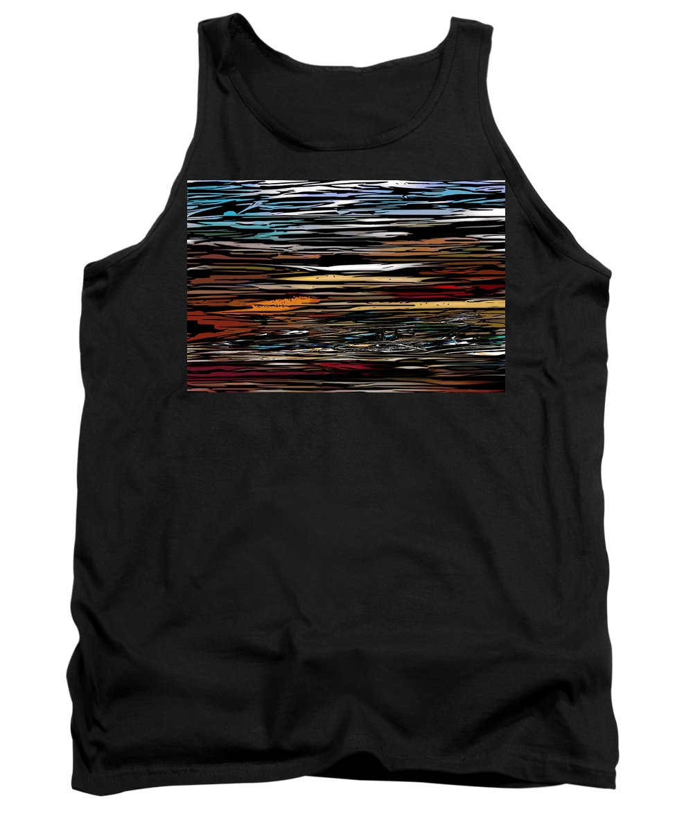 Abstract Digital Painting Tank Top featuring the digital art Untitled 9-12-09 by David Lane
