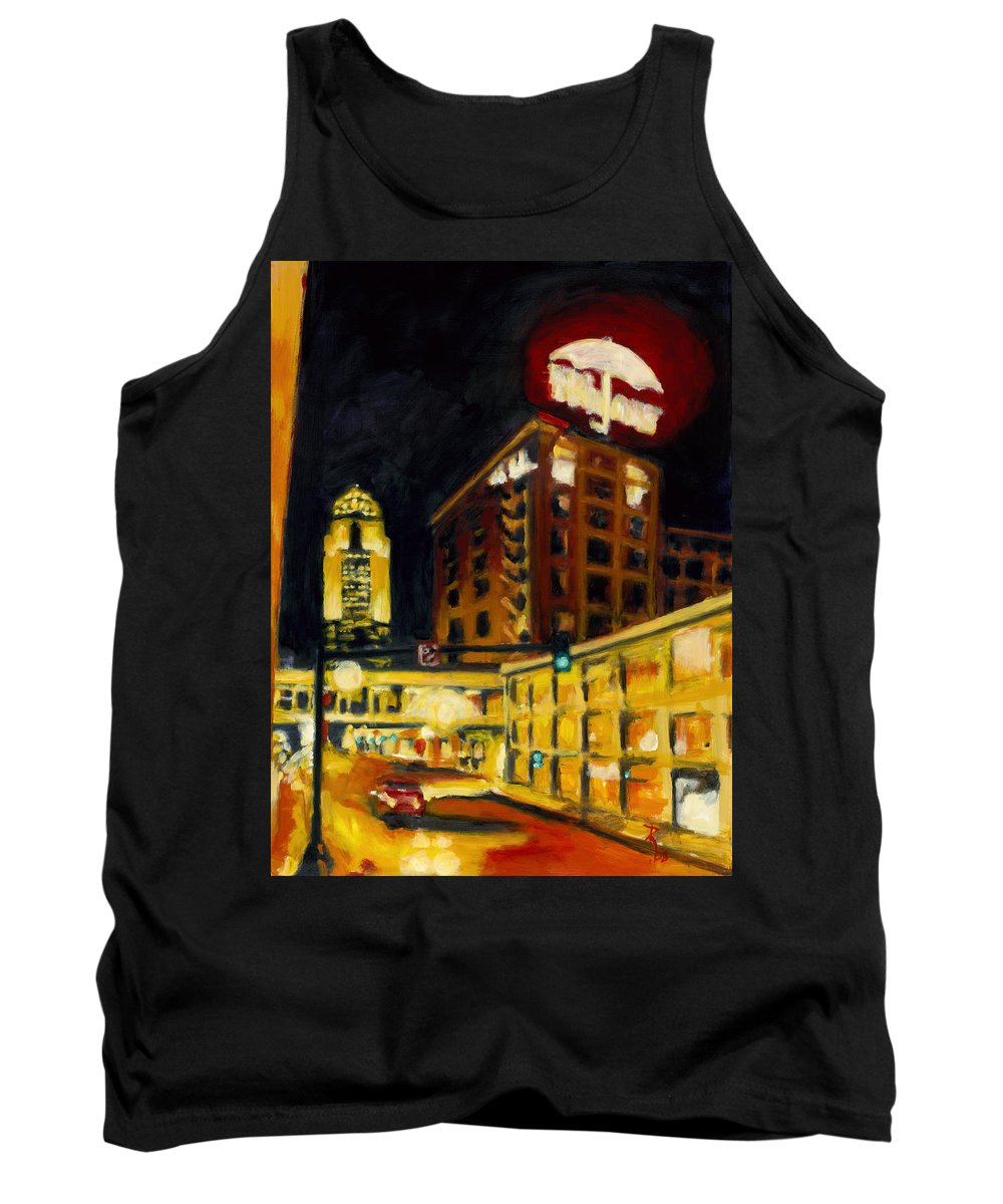 Rob Reeves Tank Top featuring the painting Untitled In Red And Gold by Robert Reeves