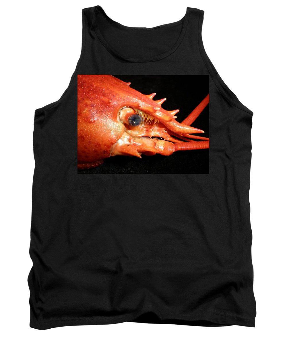 Lobster Tank Top featuring the photograph Up Close Lobster by Patricia Piffath