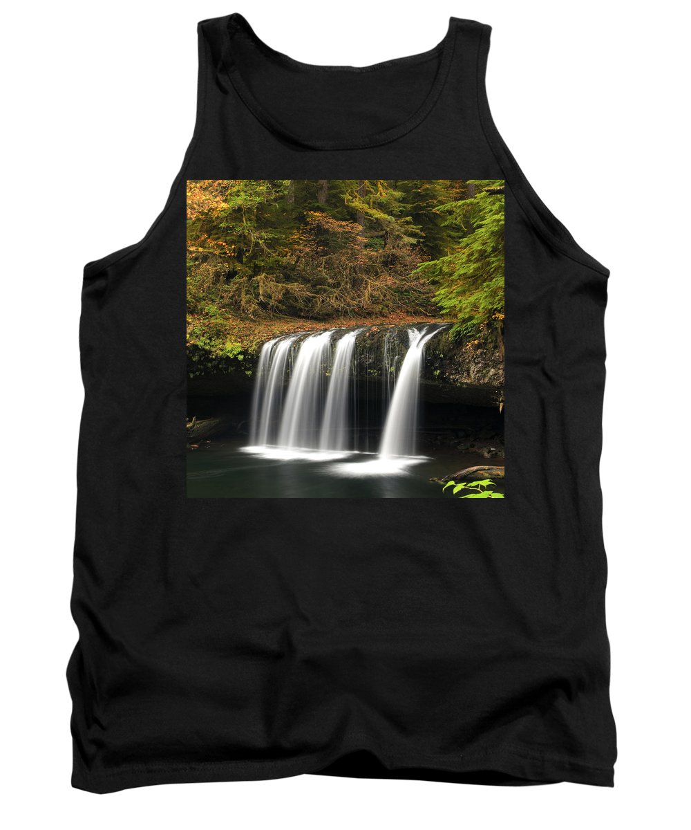Columbia Gorge Tank Top featuring the photograph Upper Butte Creek Falls 2 by Ingrid Smith-Johnsen