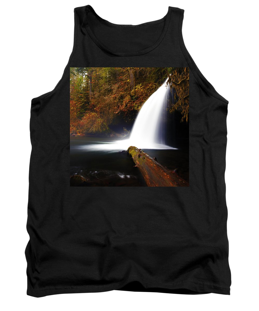 Columbia Gorge Tank Top featuring the photograph Upper Butte Creek Falls by Ingrid Smith-Johnsen