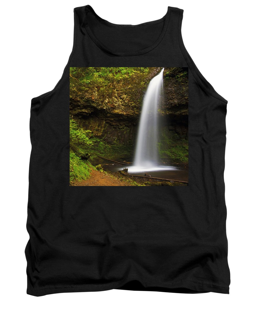 Columbia Gorge Tank Top featuring the photograph Upper Latourelle Falls by Ingrid Smith-Johnsen