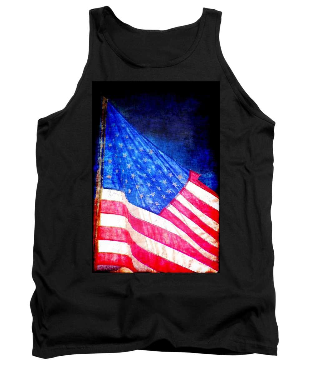 Flag Tank Top featuring the photograph USA by Donna Bentley