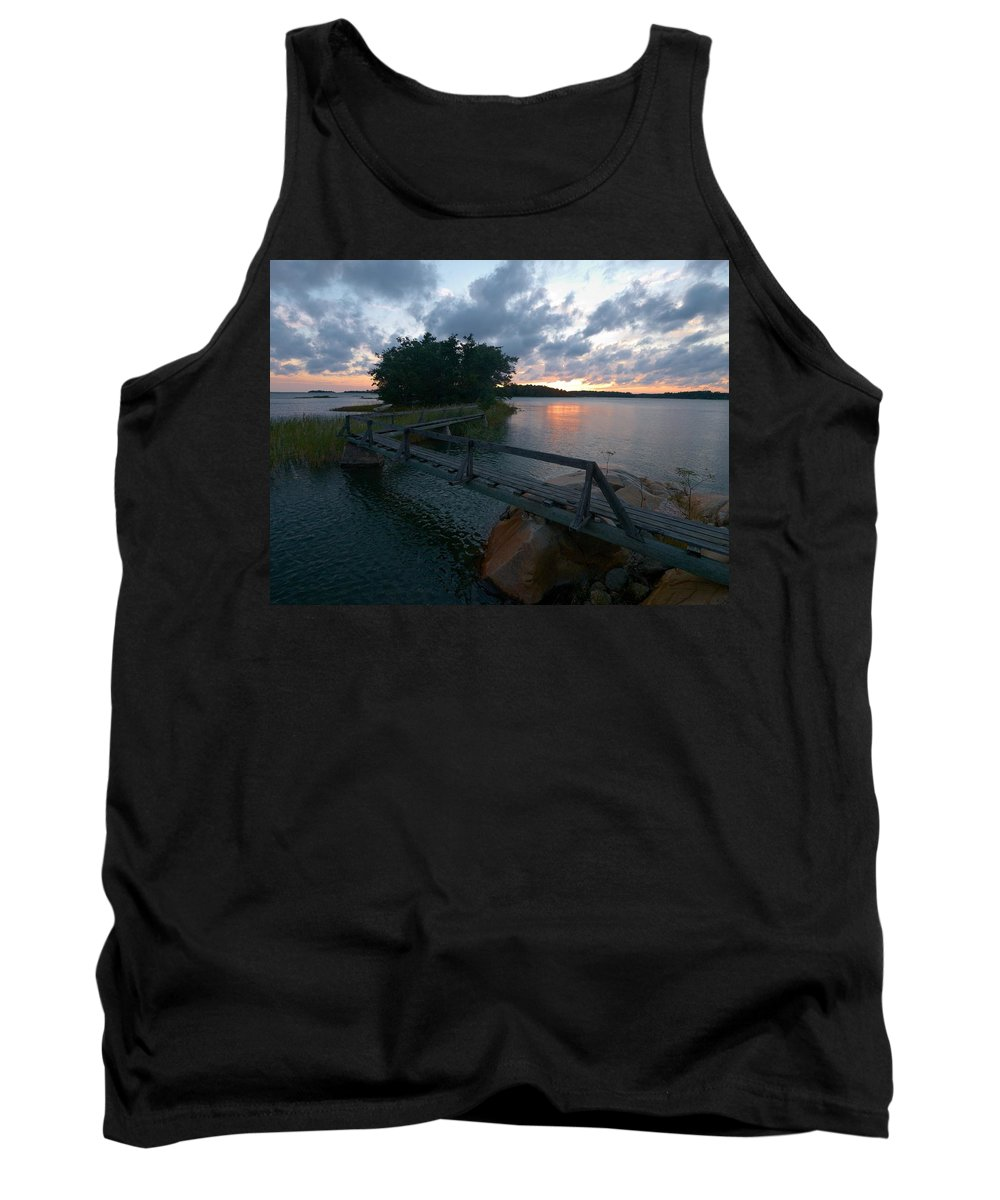 Lehtokukka Tank Top featuring the photograph Variations Of Sunsets At Gulf Of Bothnia 6 by Jouko Lehto
