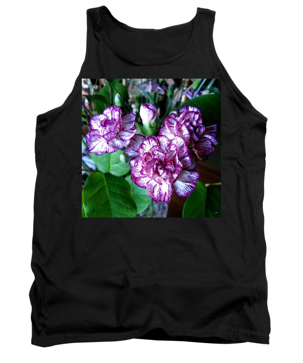 Carnations Tank Top featuring the photograph Variegated Carnations by Will Borden