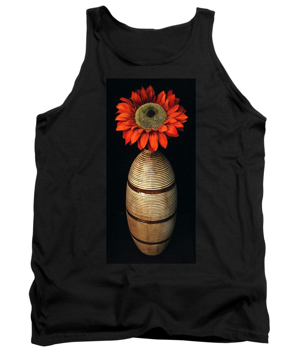 Floral Tank Top featuring the photograph Vase II by Ed Smith