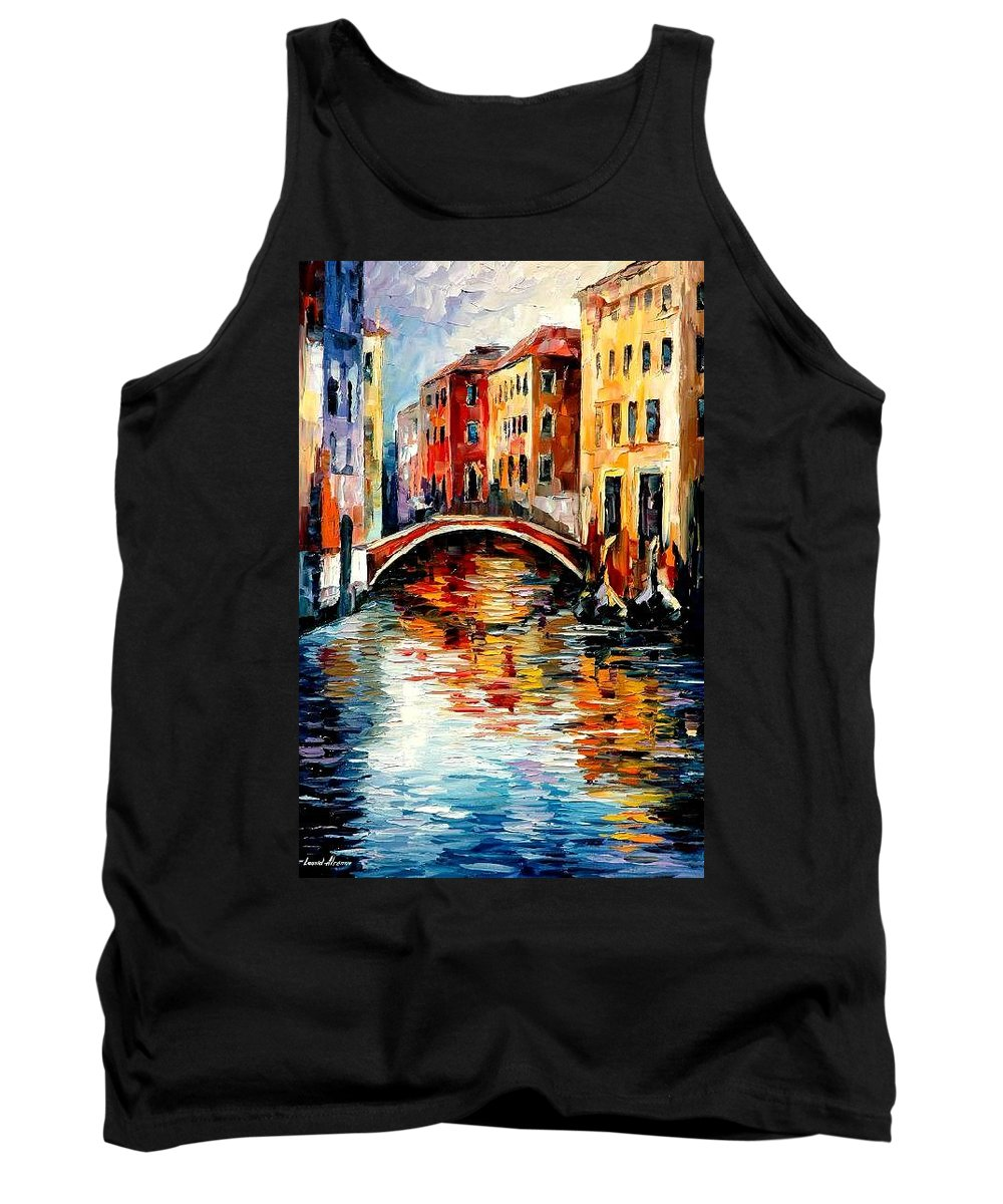 Landscape Tank Top featuring the painting Venice by Leonid Afremov