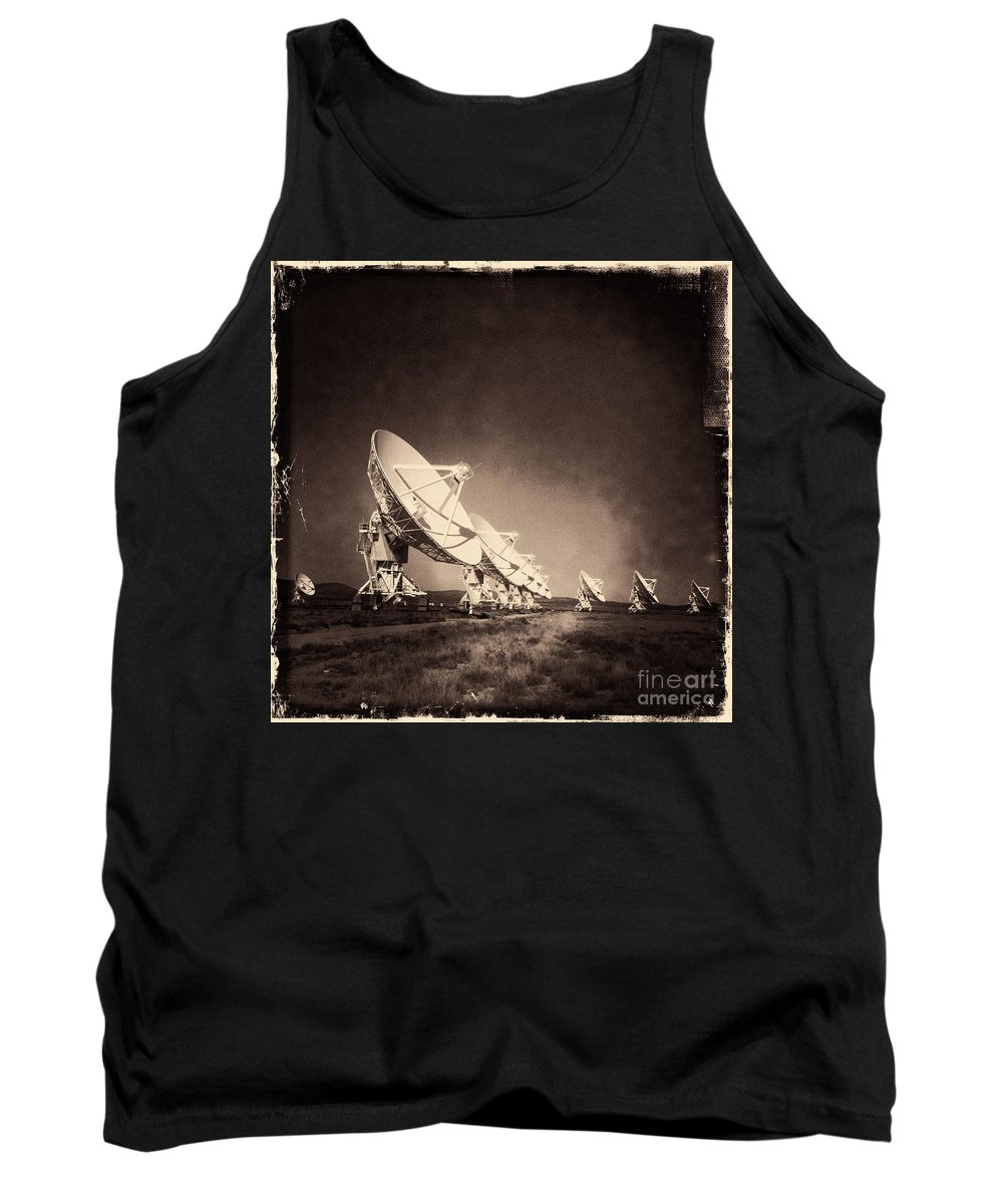 Iphoneography Tank Top featuring the photograph Very Large Array Sepia by Matt Suess