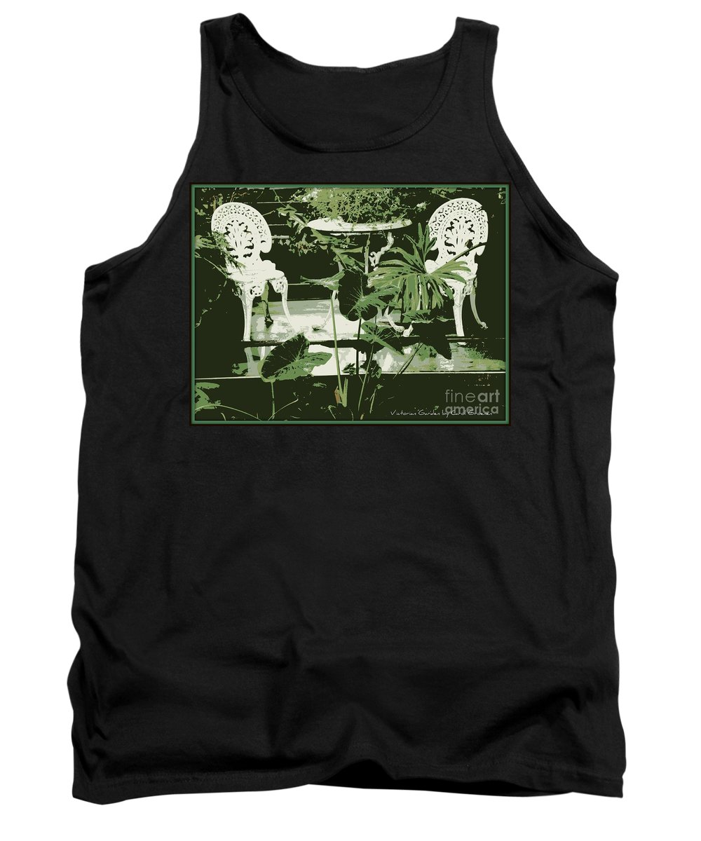 Victorian Tank Top featuring the photograph Victorian Garden Poster by Carol Groenen