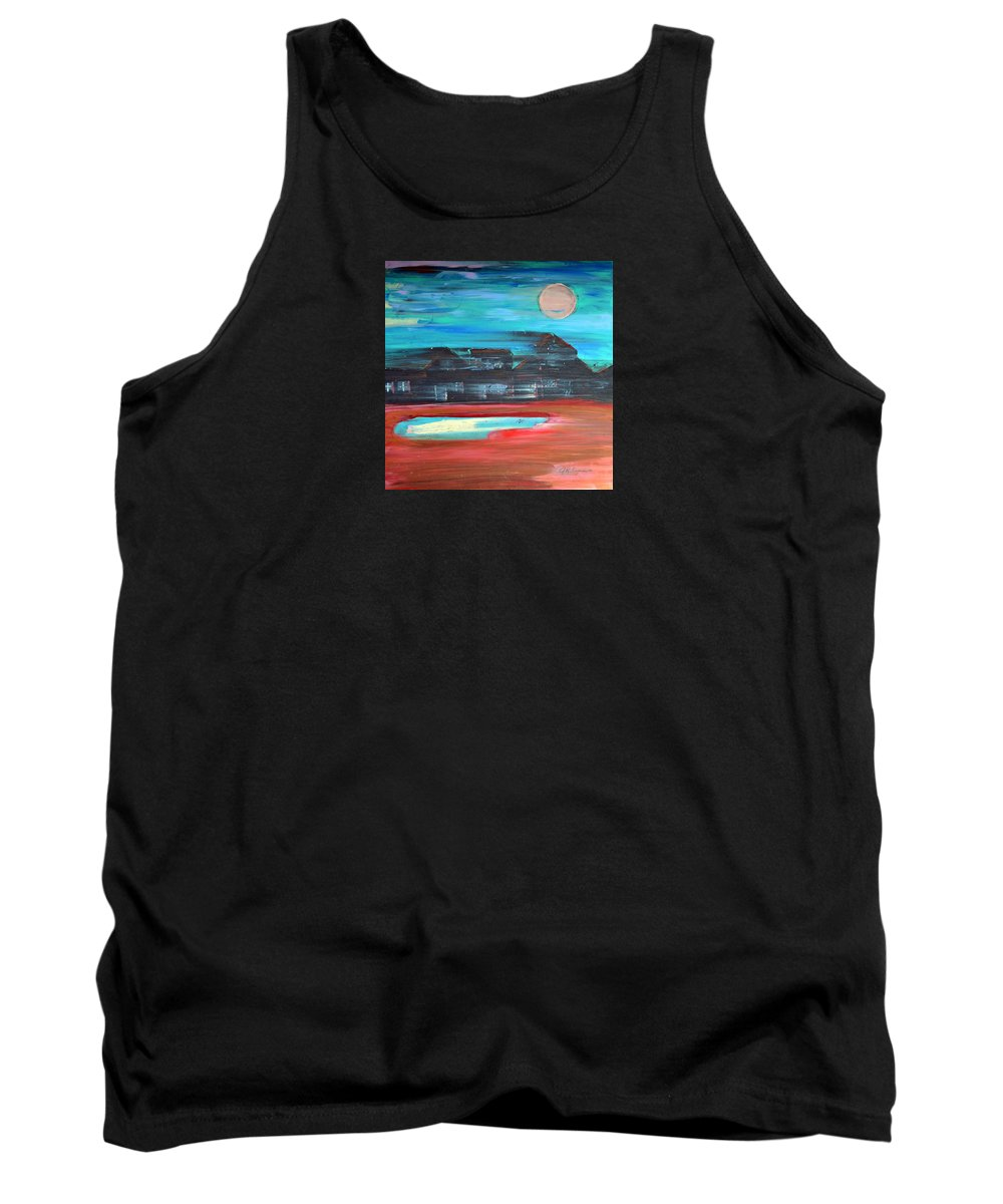 Abstract Impressionism Tank Top featuring the painting Riding The Night Train by J R Seymour