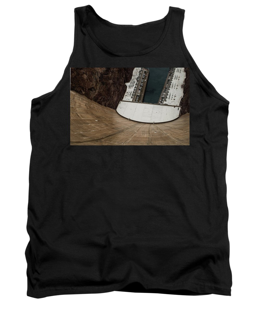 America Tank Top featuring the photograph View From Top Of Hoover Dam by Srinivasan Venkatarajan